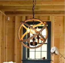 rope orb chandelier rustic lighting industrial ceiling fixture sphere pendantchina mainland cheap rustic lighting