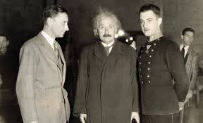 who was albert einstein universe today albert einstein director jacques feyder and actor ramon novarro at the mgm studios in 1931