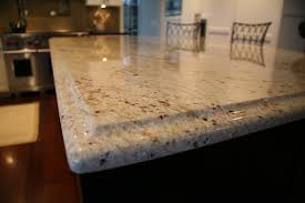 Colonial Cream Granite Kitchen Colonial Cream Granite Island Counter With Ogee Edge Profile For