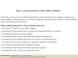 Virtual Resumes Top 5 Virtual Assistant Cover Letter Samples