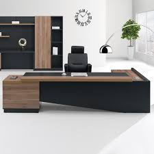 high office desk. Fashion High End Office System Furniture L Shape Manager Executive Desk With Long Cabinet