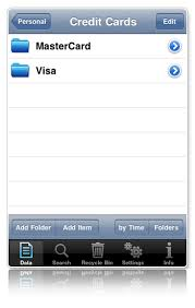 Personal Info Cards Personal Info Keeper For Iphone Organizes All Your Personal