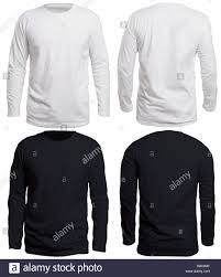 Long Sleeve Tee Design Blank Long Sleeve Shirt Mock Up Template Front And Back