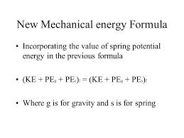 13 new mechanical energy formula