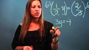 how to solve one step equations with fractions on both sides of the equals sign you
