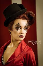 ringmaster inspired fantasy makeup with crystal accented eyes