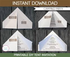 camping tent invitation template