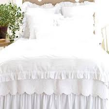ruffled duvet cover white ruffle duvet cover