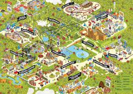 Amusement Park Design Game Theme Park Map Design Creative Project Website Theme