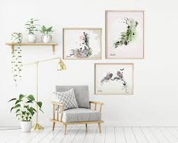 set of 3 wall art scandinavian decor