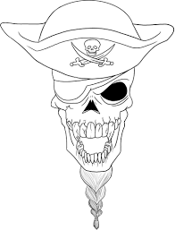 Free Printable Skull And Crossbones Coloring Pages Printable