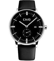 civo men s simple design black leather band wrist watch mens civo men s simple design black leather band wrist watch mens classic fashion dress analogue quartz wrist