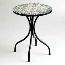 mosaic end table small round mosaic accent tables mosaic tile table diy diy mosaic table top ideas