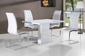 brilliant white dining table and chairs dining luxury table sets pedestal on white regarding high gloss