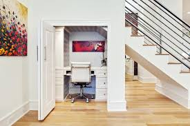 space saving home office. Captivating Space Saving Desk Under Ladder With Office Chair And Door Home M