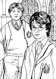 Small Picture Best friend of Harry Potter coloring pages color online Free