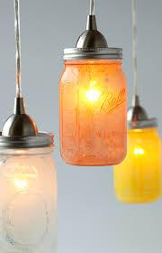 glass mason jar pendant lights