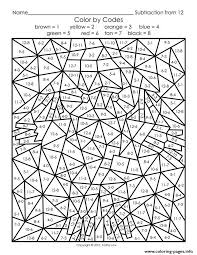 Small Picture printable color by number for adults Coloring pages Printable