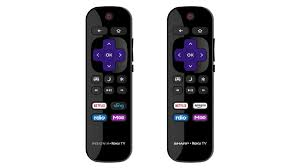 sharp lc 50lbu591u. the roku tv remote is much simpler than a standard clicker. sharp lc 50lbu591u