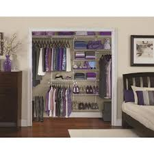 rubbermaid homefree series 6 ft to 10 ft x 12 in white wire closet kit