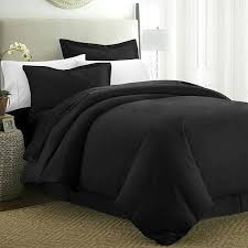 egyptian cotton duvet cover with pillow covers black