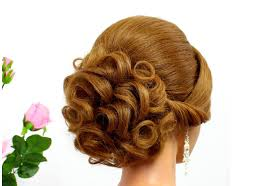 Wedding Hair Style Picture bridal hairstyle for long hair tutorial curly updo for wedding 2368 by wearticles.com