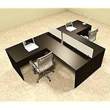 two person office desk. Two Person L Shaped Divider Office Workstation Desk Set, #OT-SUL-SP44