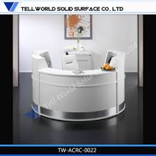 round office desk. tw simple design custom made acrylic solid surface one person modern white round office reception desk