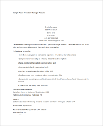 operations manager cv 7 operations manager resume free sample example format free