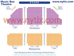 The Music Box Theater Seating Chart Dear Evan Hansen Discount Broadway Tickets Including