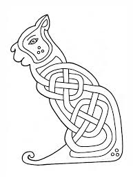 In this collection of free and printable celtic knot patterns, you can find a number of celtic knots and irish symbols. Celtic Cat Design Coloring Page Free Printable Coloring Pages For Kids