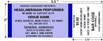 Blue Standard Horizontal Tickets By Freshtix Ticket Printing
