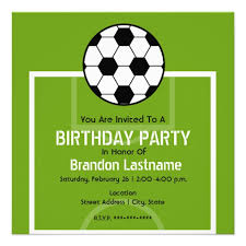Soccer Party Invitation Template Personalized Soccer Birthday Invitations