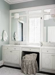 louvered framed mirrors bathroom traditional with white wood metal robe and towel hooks