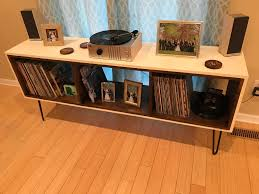 midcentury modern record player stand i put together what ya