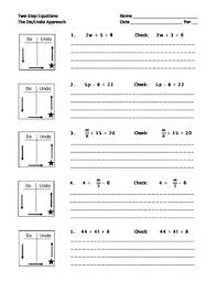 Solving Two Step Equations With A Do Undo Chart