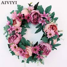 silk peony artificial flowers wreaths door artificial garland wedding decoration home party decor msia