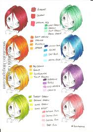Hair Colours Art Rainbow Hair How To Draw Hair Copic