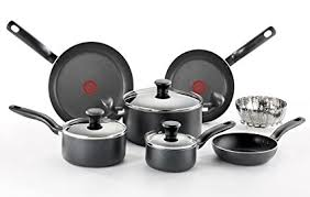 pots and pans in dishwasher. Interesting Pans Tfal A821SA Initiatives Nonstick Inside And Out Dishwasher Safe Oven  Cookware Set Intended Pots And Pans In