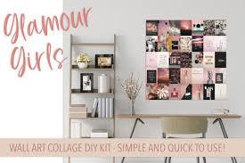 glamour girl diy wall collage kit