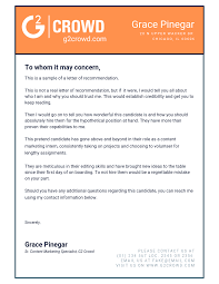 Rec Letter Letter Of Recommendation Instructions Template Tips And Examples