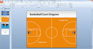 Basketball Powerpoint Template Free Free Basketball Court Powerpoint Template