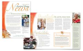 free microsoft publisher newsletter templates newsletter formats assisted living facility newsletter word