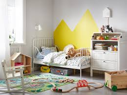 kids bedroom furniture ideas. a childrens bedroom with the minnen extendable bed against wall beside sundvik changing table kids furniture ideas