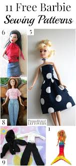 Barbie Doll Clothes Patterns New 48 Free Barbie Sewing Patterns