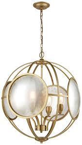 dimond d3371 le style métro modern gold antique mercury hanging chandelier loading zoom