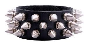 3 row spike wristband view 1