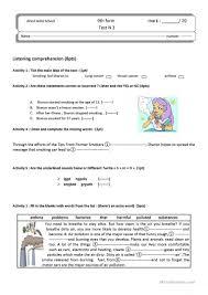 Word Test 3 Test 3 9th Form Tunisian Students Worksheet Free Esl Printable