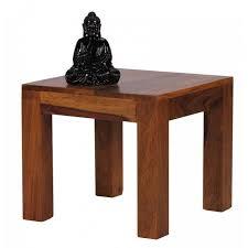 Table d'appoint carrée 45 X 45 cm en bois massif sheesham Bois ...