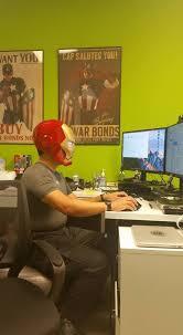 iron man office. iron man at work!! - pandadoc office